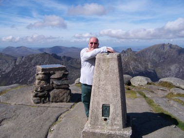Yer man on summit of Goat Fell