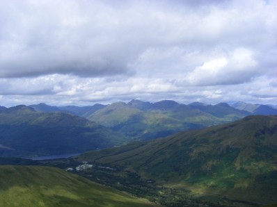 Arrochar Alps from Doune Hill