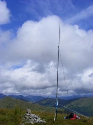 Beinn Eich antenna looking NW