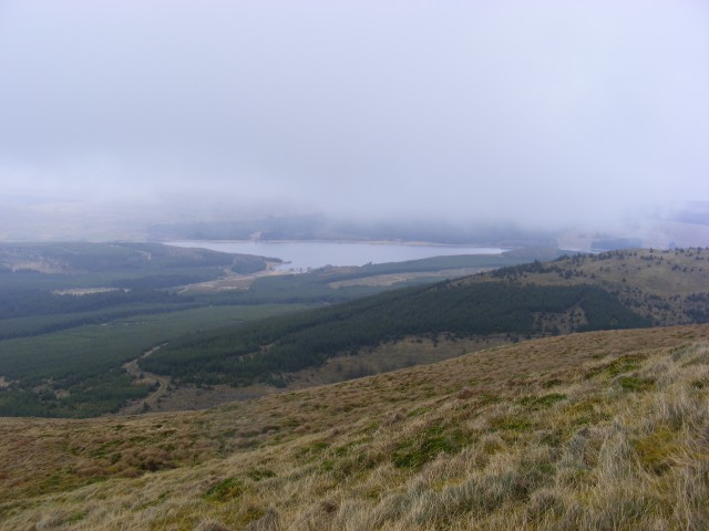 A brief sighting of Carron Valley Reservoir
