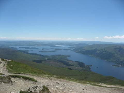 Looking south from the summit of Ben Lomond