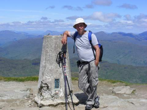 Alex at Ben Lomond Trig point