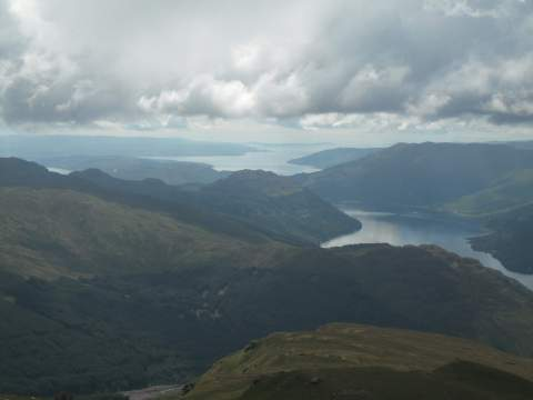Looking down the Firth of Clyde (Loch Goil in foreground)