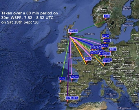 WSPR Activity 18th Sept '10
