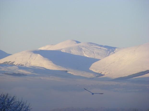 A snowy Beinn Chaorach