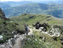 Heading down the Ptarmigan Ridge