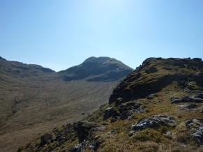 Cruach Ardrain summit from the ridge walk