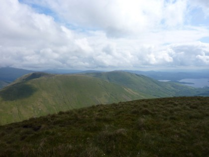 Beinn Dubh and Mid Hill from Eich