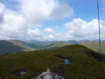 Beinn Eich summit towards west