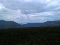 Looking towards Arran from ascent of Beinn Lochain