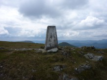 White faded trig on Doune Hill