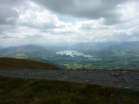 Derwent Water from the ascent of Skiddaw
