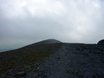Looking back to the summit