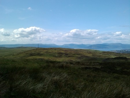 Looking toward the Holy Loch and Beinn Mhor amongst others