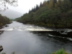 Man made weir on River Orchy