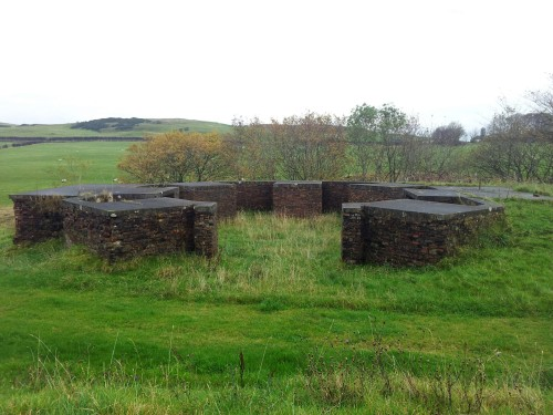 North facing gun emplacement