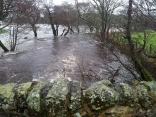 Netherbank Bridge downstream 29th Nov