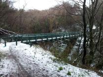 Footbridge over the Devol Burn
