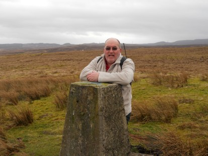 Yer man at Hardridge trig point