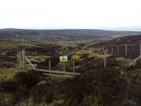 Looking down towards the mining area