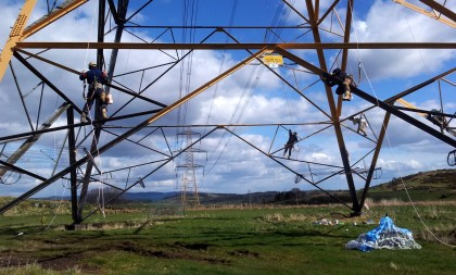 Pylon workmen