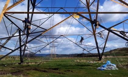 Pylon workmen