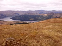 Looking down to Finnart