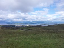 Looking N from Dunrod Hill