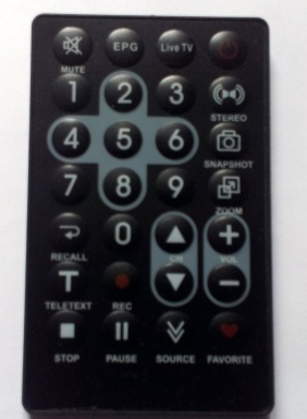 Dongle remote for TV use