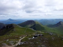 Narnain summit from Beinn Ime