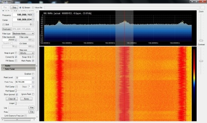 SDRSharp with FM Broadcast radio traces