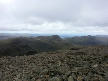 Bowfell and a glimpse of Lake Windermere