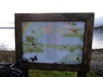 Board on east side of Holy Loch