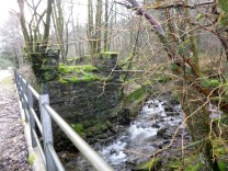 Old stone bridge support