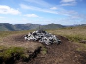 Dubh cairn with Luss hills