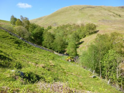 The bottom of Glen Striddle