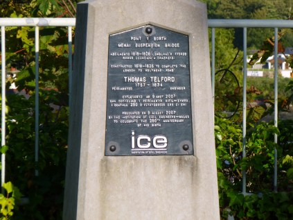 Pont Y Borth plaque