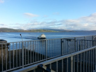 The ferry arrives at Gourock