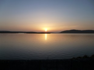 Sunset over Loch Thom