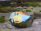 Painted rock at Cove