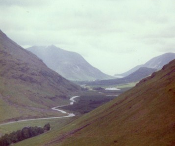 Glen Etive from the top of Lairig Gartain