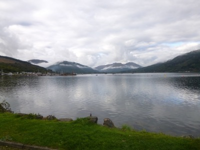 Looking up the Holy Loch from Ardnadam