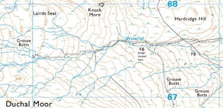 Blacketty Water bridge map