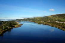 Looking down the Clyde