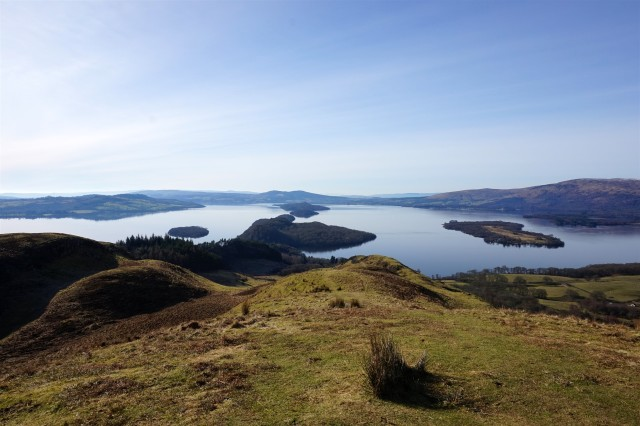 View from Conic Hill along boundary fault