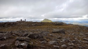 Trig point and Beinn Ime