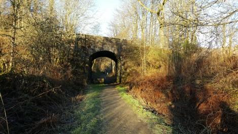 Leaving Callander, old railway bridge