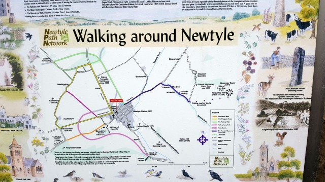 Newtyle walks map