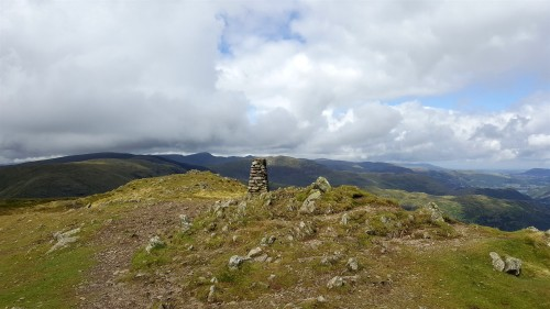 Looking across to Helvellyn and others