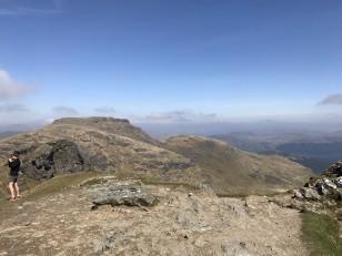 Beinn Narnain plateau summit